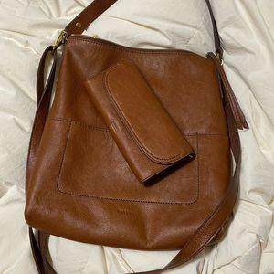 Fossil handbag and large wallet